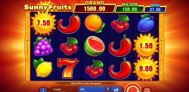 Revue du jeu en ligne Sunny Fruits : Hold and Win